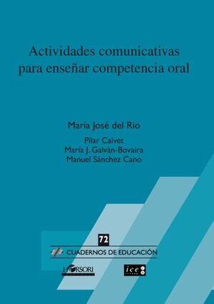 CE 72 ACTIVIDADES COMUNICATIVAS PARA ENSEÑAR COMPETENCIA ORAL