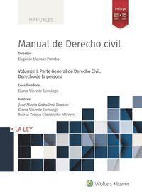 MANUEL DE DERECHO CIVIL I. PARTE GENERAL DE DERECHO CIVIL. DERECH