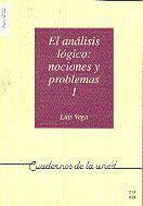 EL ANÁLISIS LÓGICO: NOCIONES Y PROBLEMAS I