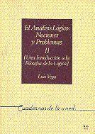 ANÁLISIS LÓGICO: NOCIONES Y PROBLEMAS II (UNA INTRODUCCIÓN A LA FILOSOFÍA DE LA