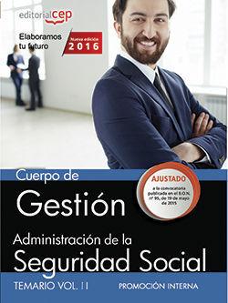 CUERPO DE GESTIÓN DE LA ADMINISTRACIÓN DE LA SEGURIDAD SOCIAL (PROMOCIÓN INTERNA