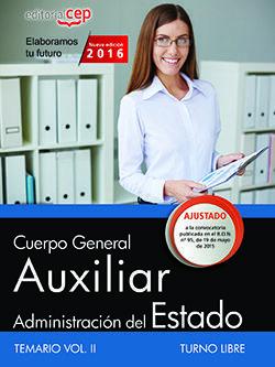 CUERPO GENERAL AUXILIAR DE LA ADMINISTRACIÓN DEL ESTADO (TURNO LIBRE). TEMARIO V