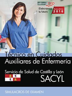 TÉCNICOS EN CUIDADOS AUXILIARES DE ENFERMERÍA. SERVICIO DE SALUD DE CASTILLA Y L