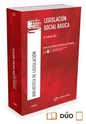 LEGISLACIÓN SOCIAL BÁSICA (PAPEL + E-BOOK)
